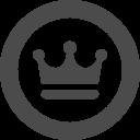 丸枠の中に王冠を配したフリーアイコンその2